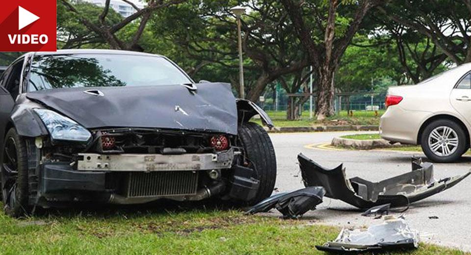 18 Yaşındaki sürücü Nissan GT-R ile kaza yaptı