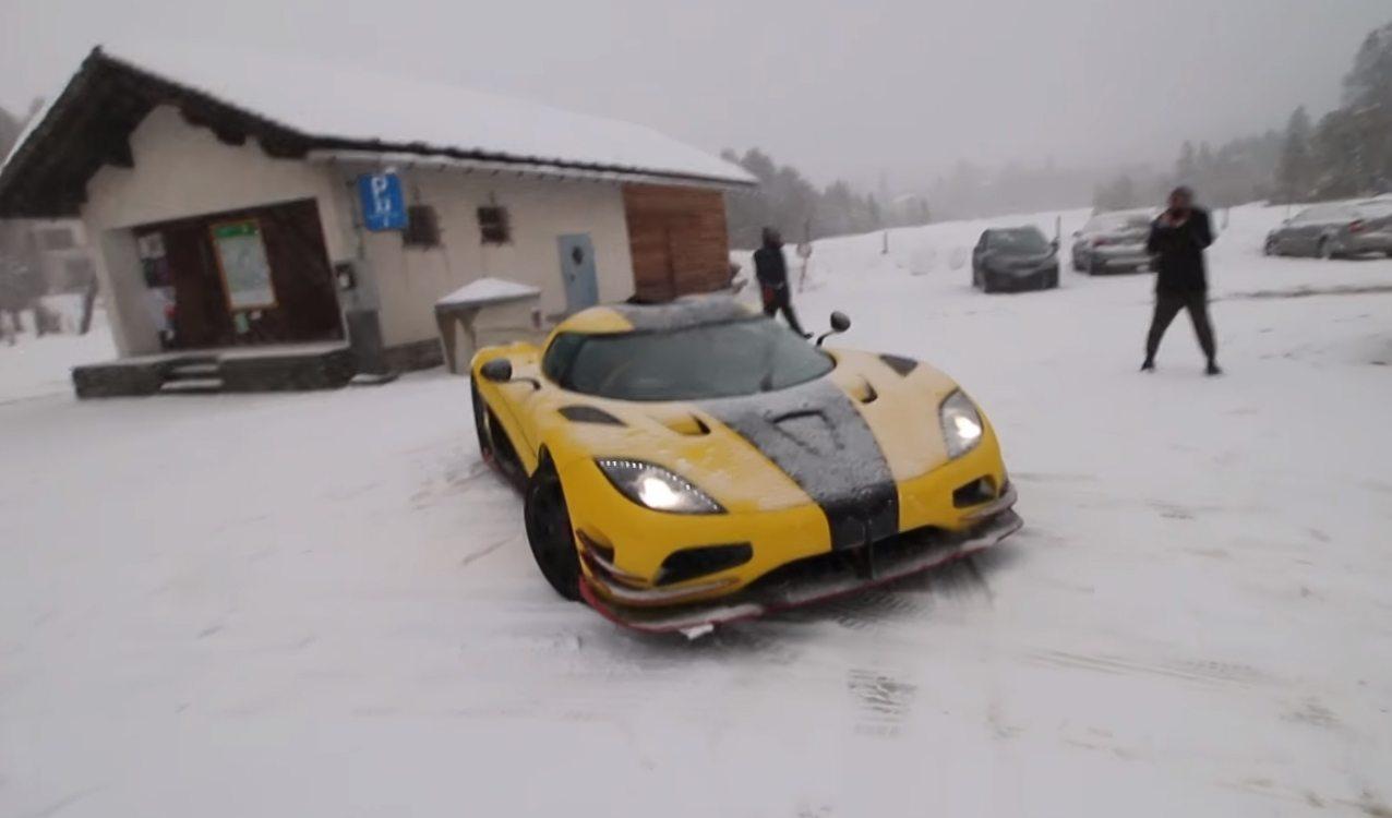 Koenigsegg'ler karda da kullanılabilir.