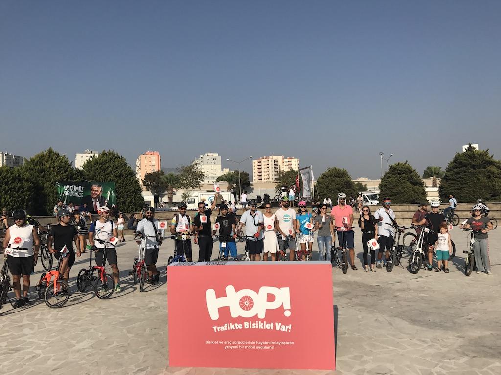 Trafik Hayattır'dan Bisikletçilere 'HOP!'