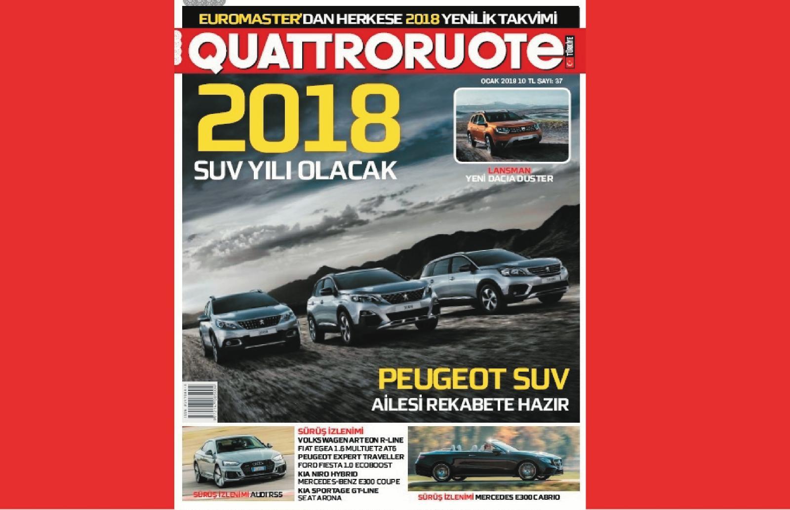 Quattroruote Turkiye Ocak Sayisi Bayilerde
