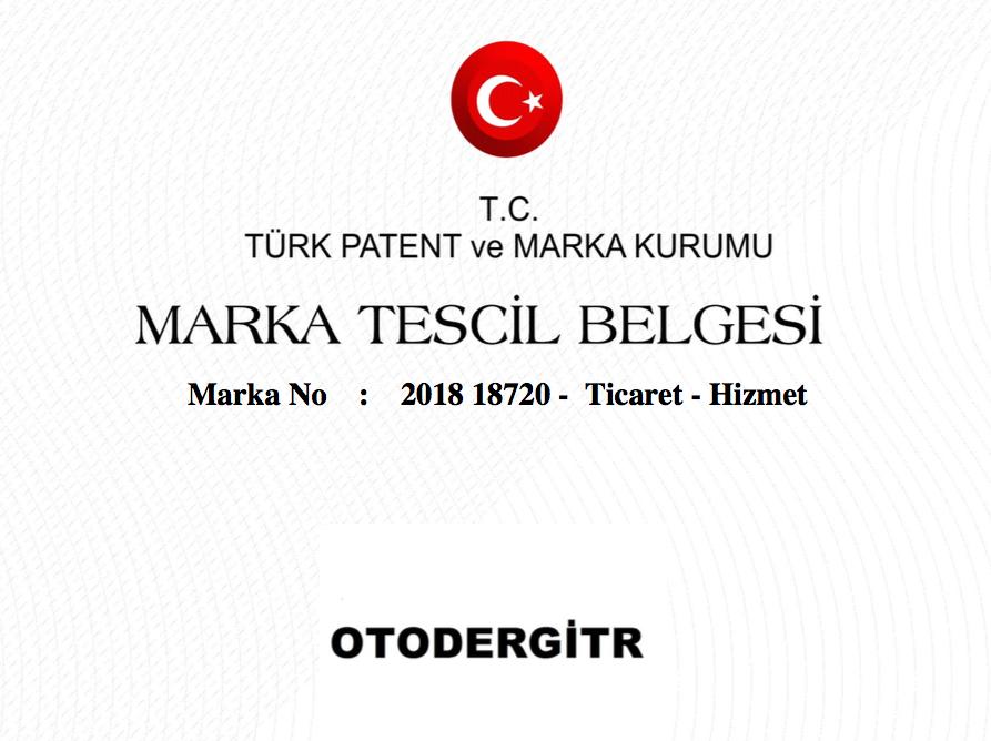 OTODERGİ-TR şimdi bizim tescilli markamız!