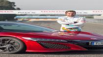 Fernando Alonso yeni NSX'in sınırlarını zorladı