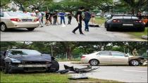 18 Yaşındaki sürücü Nissan GT-R'ı çarptı