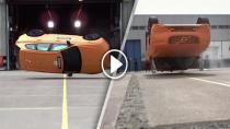 Volvo XC60 takla testinde görüntülendi