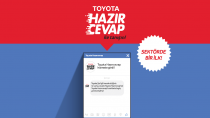 Toyota'nın hazır cevap uygulaması devrede