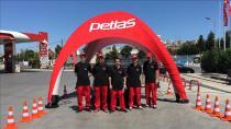 Petlas tatil rotalarında lastik kontrol istasyonları kurdu