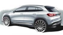 Yeni Mercedes GLA'dan yeni çizim görseli