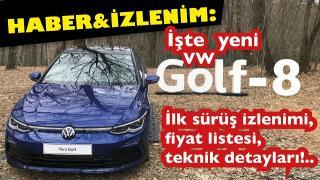 İLK SÜRÜŞ: Yeni VW Golf-8 1.5 eTSİ R-Line 150 PS...