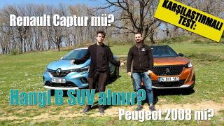 KARŞILAŞTIRMALI TEST:Hangi B SUV Alınır? Renault Captur mü? Peugeot 2008 mi?
